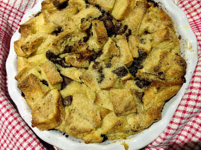 Nigella Lawson Chocolate chip bread pudding from Kitchen