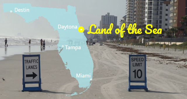 Daytona Beach - Land of the Sea, Florida USA