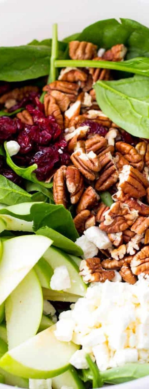 Apple Cranberry Walnut Salad #SALADRECIPES
