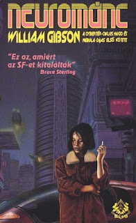 Hungarian cover of the novel Neuromancer by William Gibson