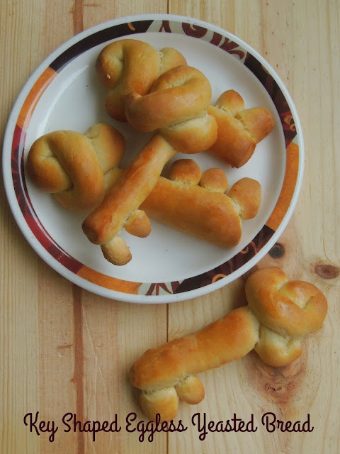 Key Shaped Eggless Yeasted Bread