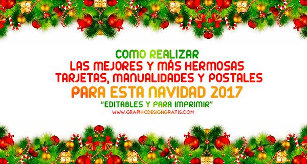 Manualidades, frases y tarjetas de navidad 2018 editables para imprimir