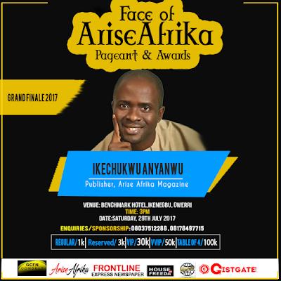 Face of Arise Afrika 2017 founder IK Anyanwu