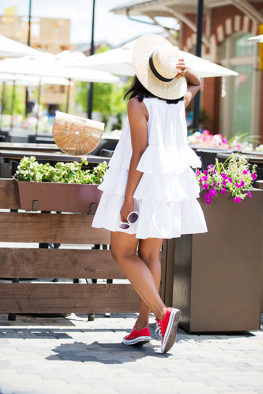 Asos white frill oversize shirt dress, www.jadore-fashion.com
