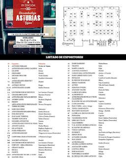 listado de expositores de la 19 edición del desembalaje de Asturias en Gijon