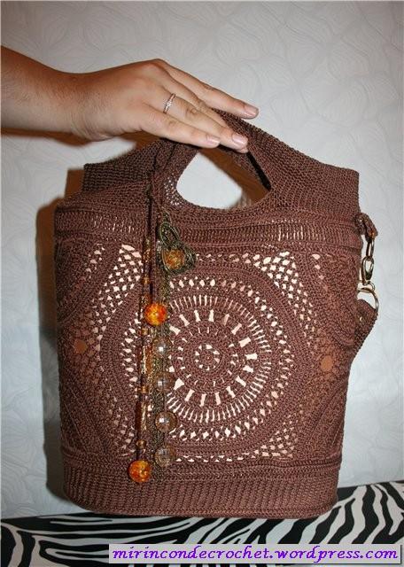 Patrón #1393: Bolso a Crochet