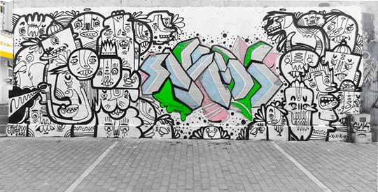 Arte urbano de Giovanny Ortiz Jimenez aka Ortix