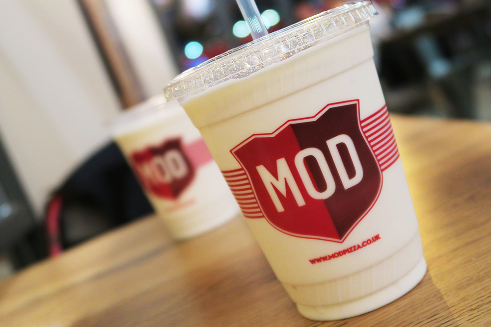 Vanilla milkshakes at MOD Pizza Leeds