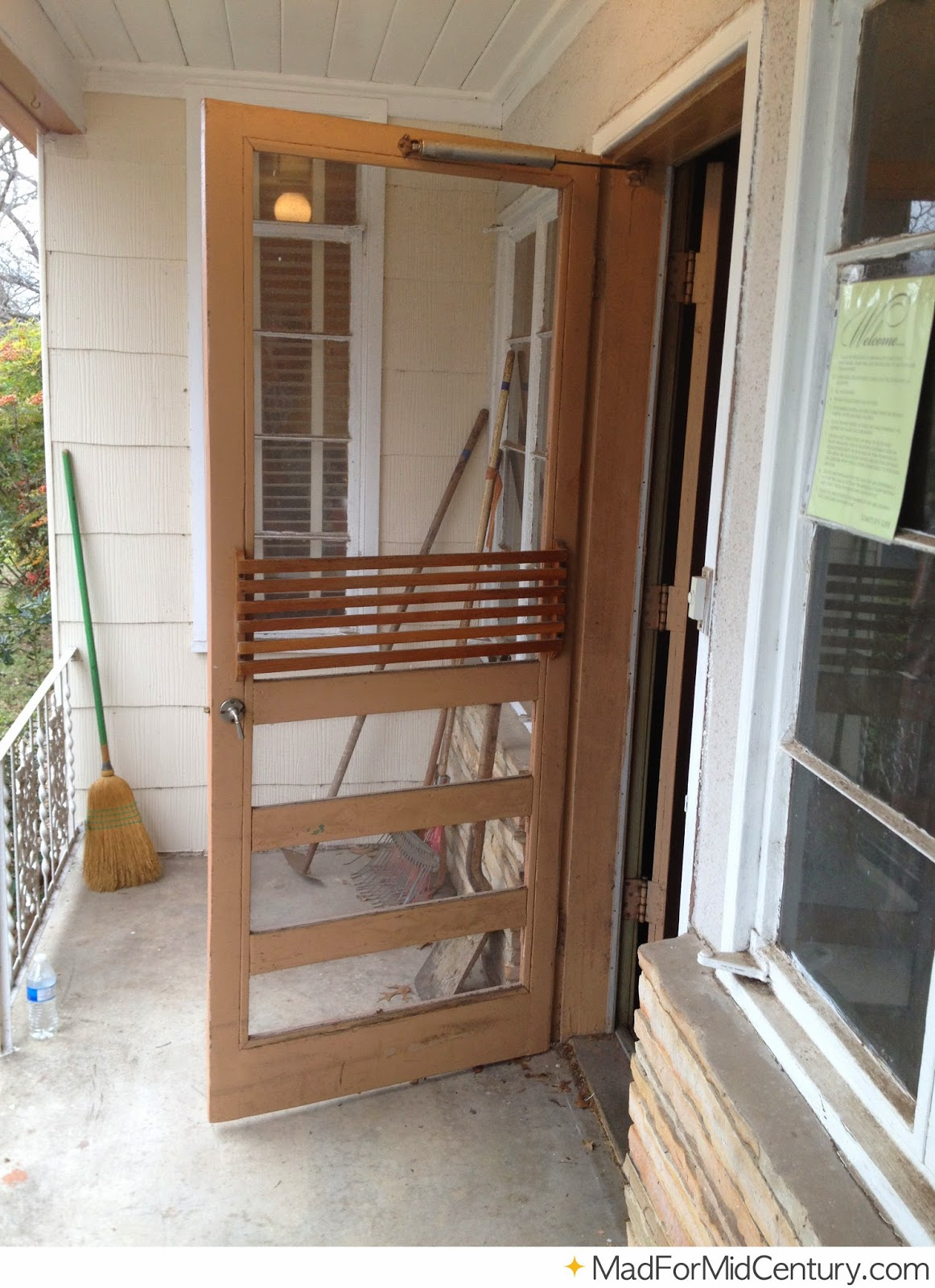 Mad for Mid-Century: Brown Vintage Screen Door on a Mid ...