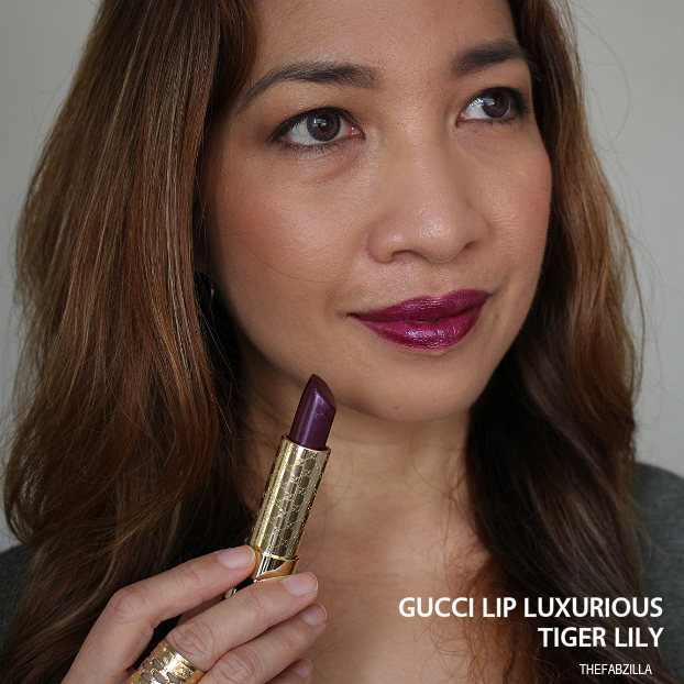gucci lip luxurious tiger lily review