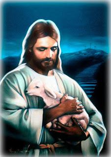 jesus cristo em óleo sobre tela