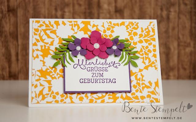 Stampin Up Framelits Blühendes Herz Bloomin Heart Pflanzen-Potpourrie Botanischer Garten Geburtstagsblumen