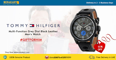 Tommy Hilfiger Multi-Function Grey Dial Black Leather Men's Watch (TH1791051)