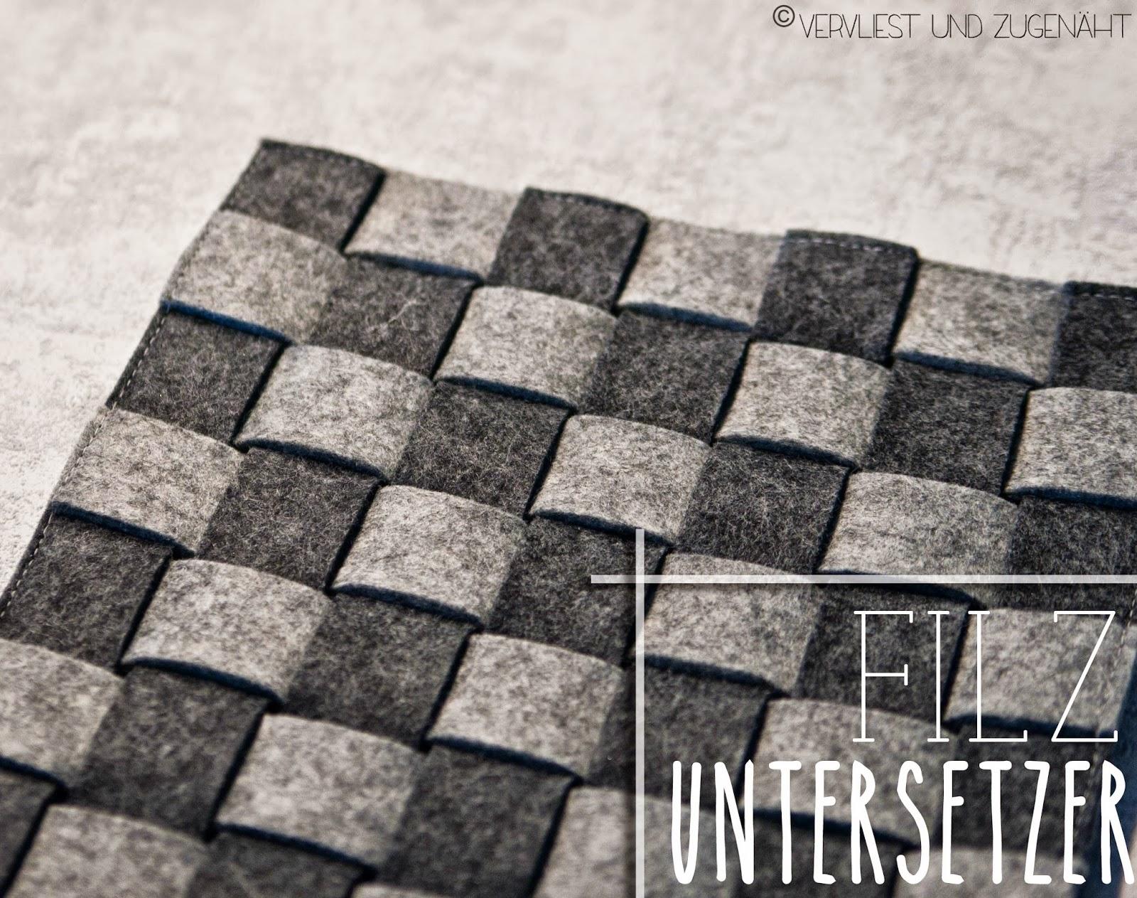 vervliest und zugen ht schachbrett untersetzer aus filz. Black Bedroom Furniture Sets. Home Design Ideas