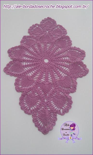 caminho de crochê