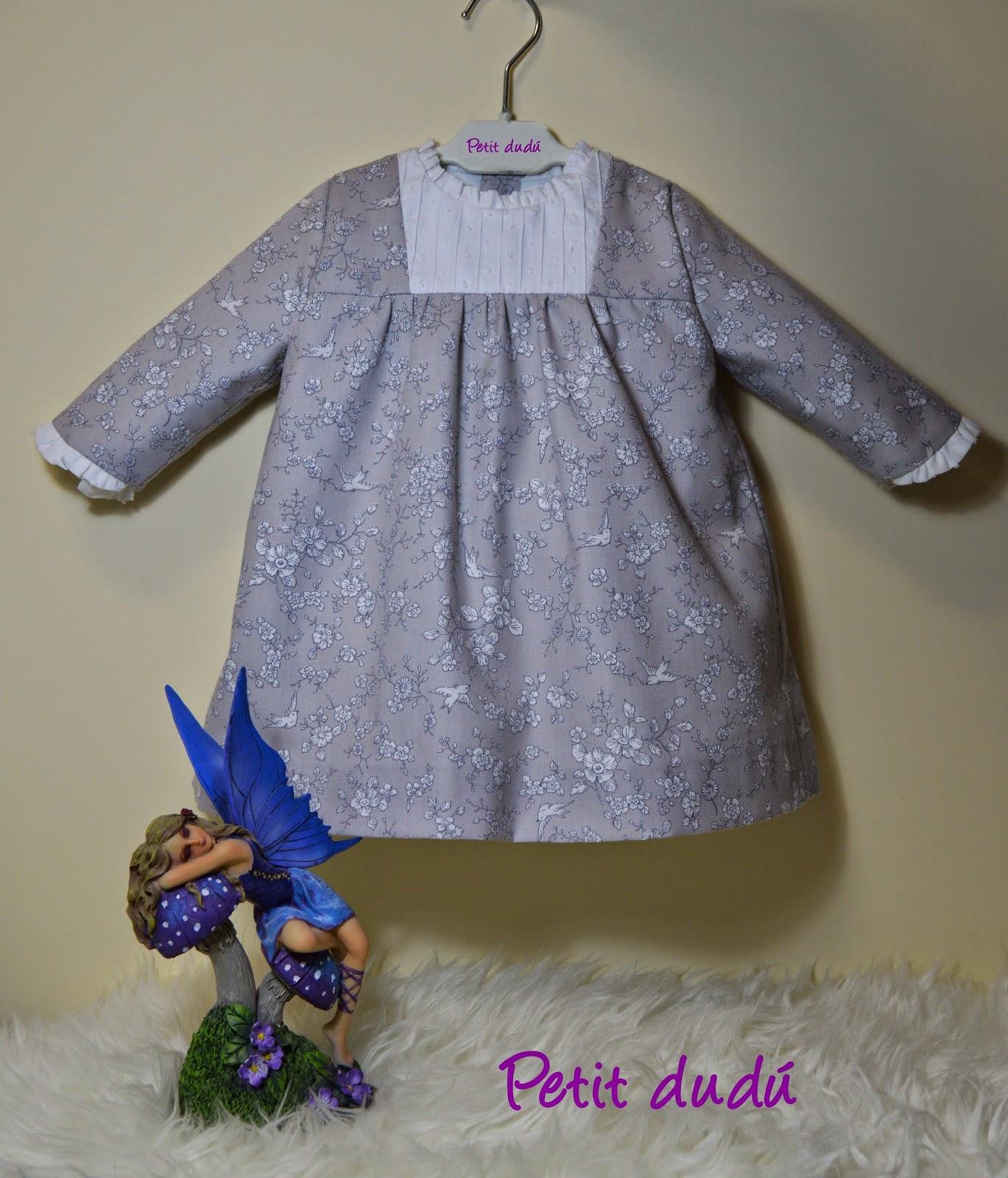 Vestido estampado pajaros Petitdudu