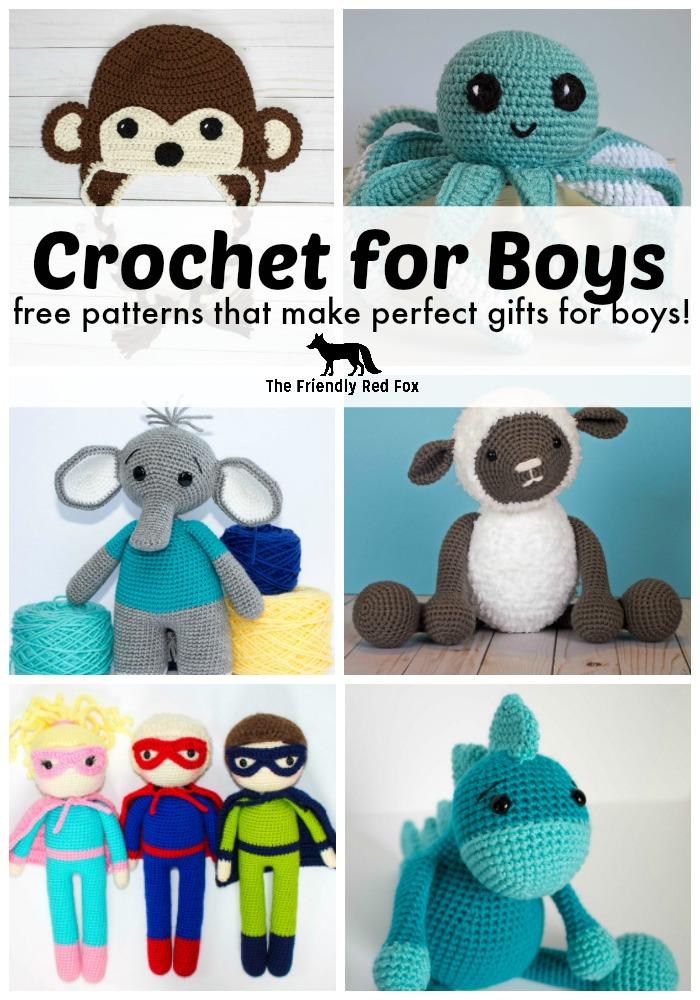 Crochet For Boys Thefriendlyredfox
