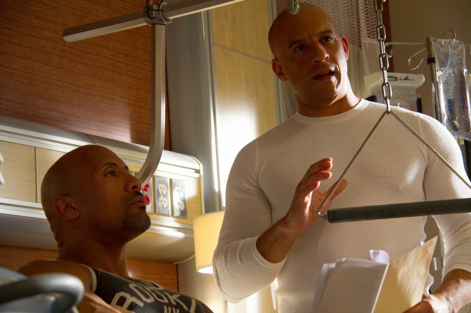 Fast and Furious: Vin Diesel and Dwayne Johnson (The Rock ...