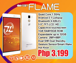 ZH&K Mobile Odyssey Flame Announced, 5-inch HD Quad Core for Php3,1999