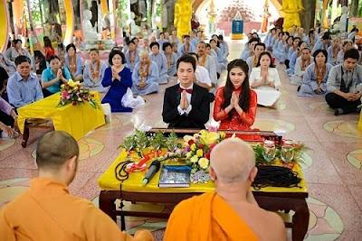 Các trình tự của nghi thức lễ cưới trong tín ngưỡng Phật giáo
