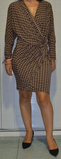 Vestido drapeado de Mais Moda