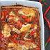 Piri-Piri-Huhn, Zucchini-Melanzani-Salat mit Charmoula