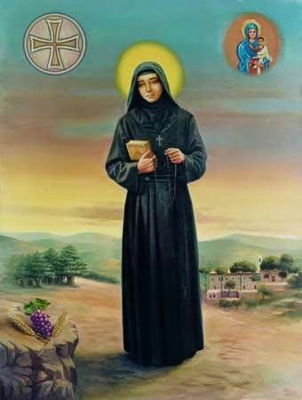 MARCH 23 - St Rafqa (Rafka), maronite nun from Lebanon