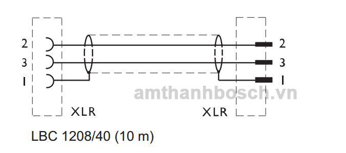 Cáp micrô Bosch LBC 1208/40
