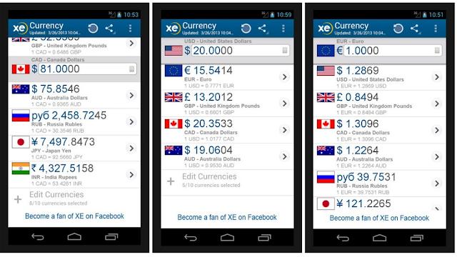 Aplikasi Kurs Mata Uang Untuk Smartphone