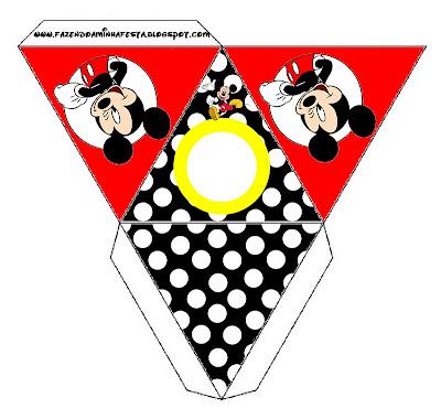 Cajita pirámide imprimible gratis de Mickey Mouse