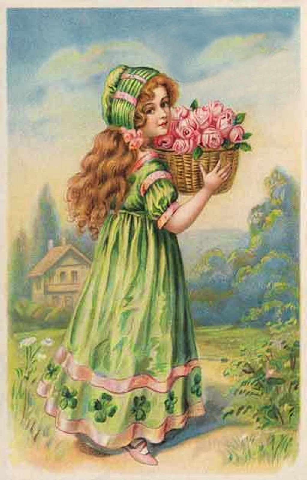 С днем рождения крестница картинки анимация ретро винтаж, картинка надписью открытки