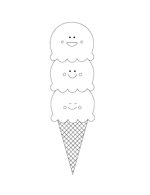 free ice cream cone coloring page printable
