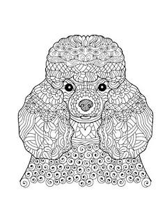 דפי צביעה לילדים גדולים - מנדלות וכלבים