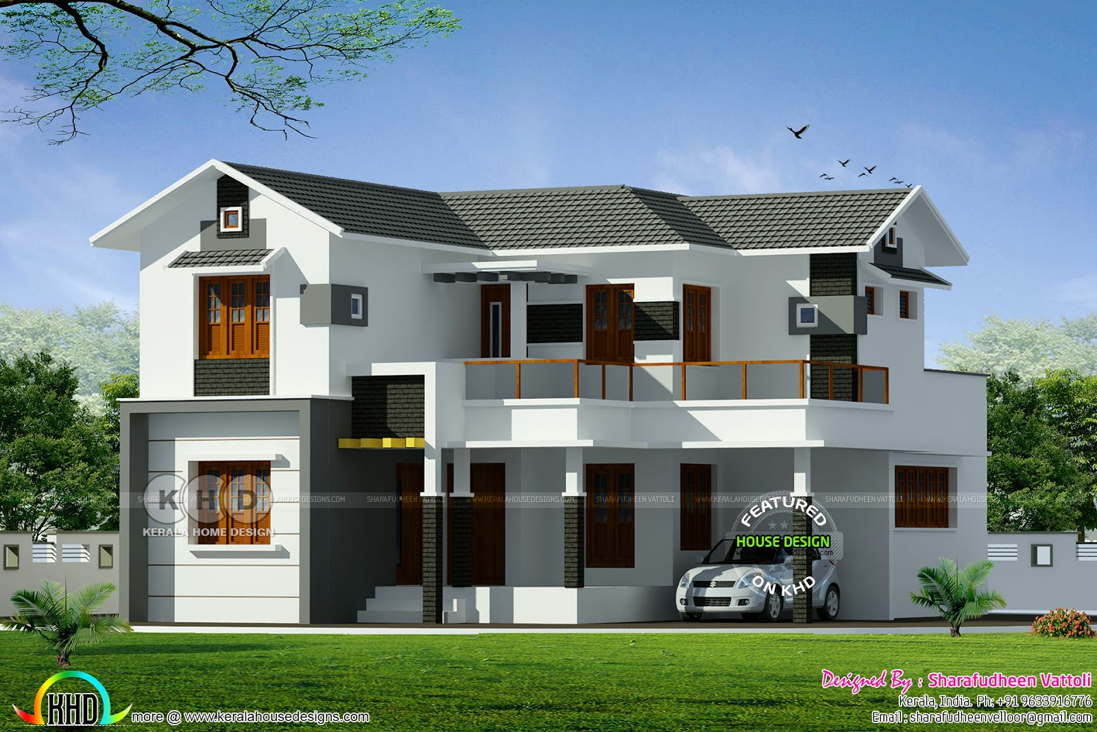 3 Different Home Designs One Floor Plan Kerala Home Design And