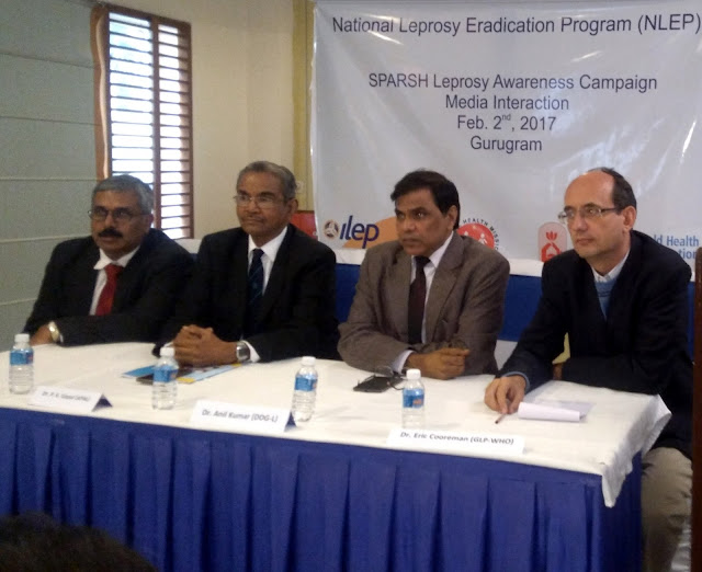 (L to R) MR. JOHN KURIAN GEORGE (ILEP in India), PADMASHREE  DR.P. K. GOPAL (Representative- APAL), Dr. Anil Kumar (Dep. Director General (1)