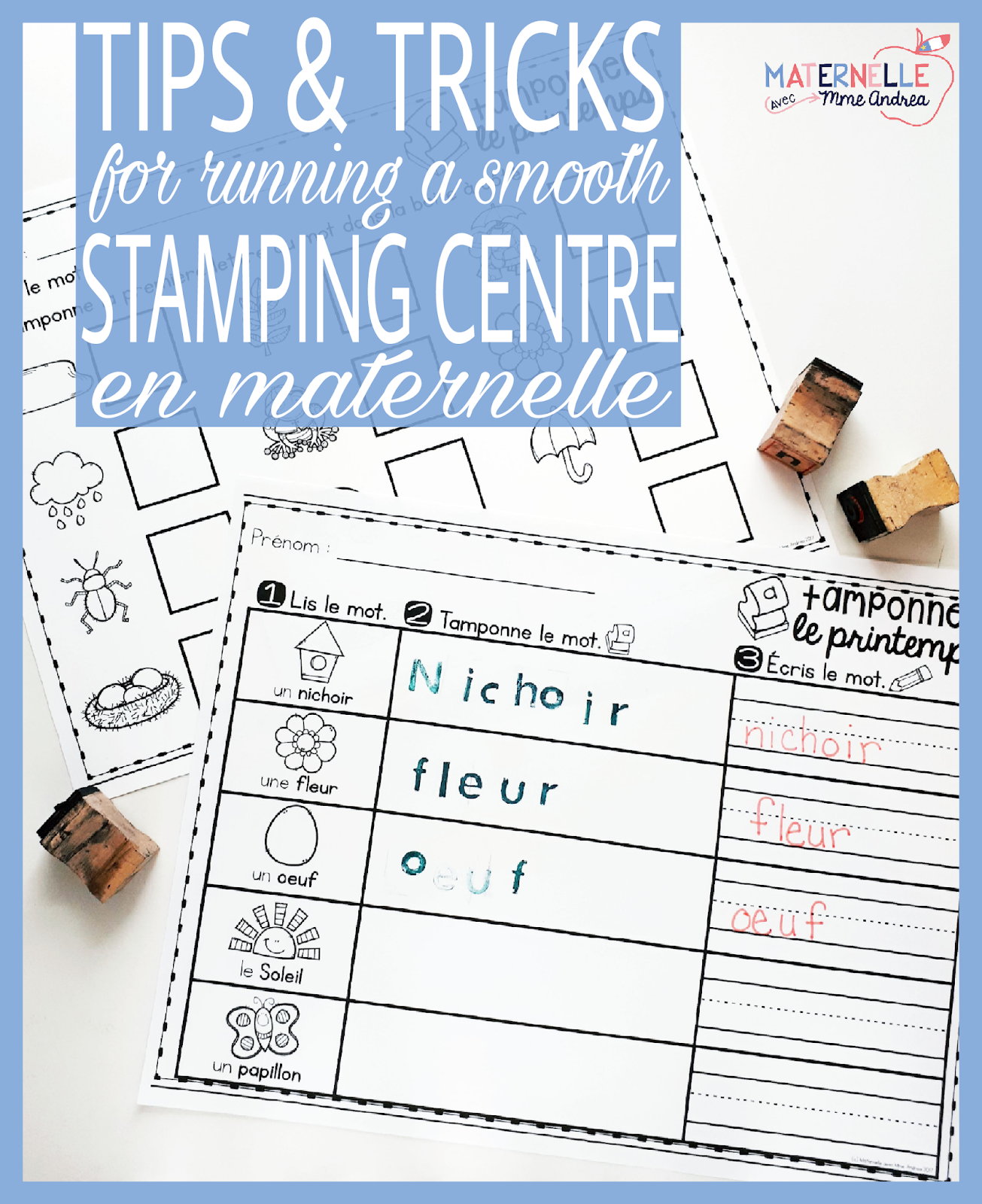 Maternelle avec mme andrea french stamping ideas activities read on to see how i run the stamping centre in my classroom and to hear my tips for keeping things running as smoothly as possible sciox Image collections