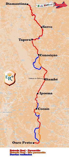 Caminho dos Diamantes, Estrada Real, Minas Gerais