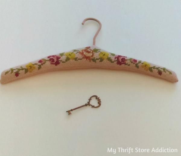 Vintage embroidered hanger