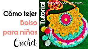 Bolso para Niñas a Crochet / Tutorial
