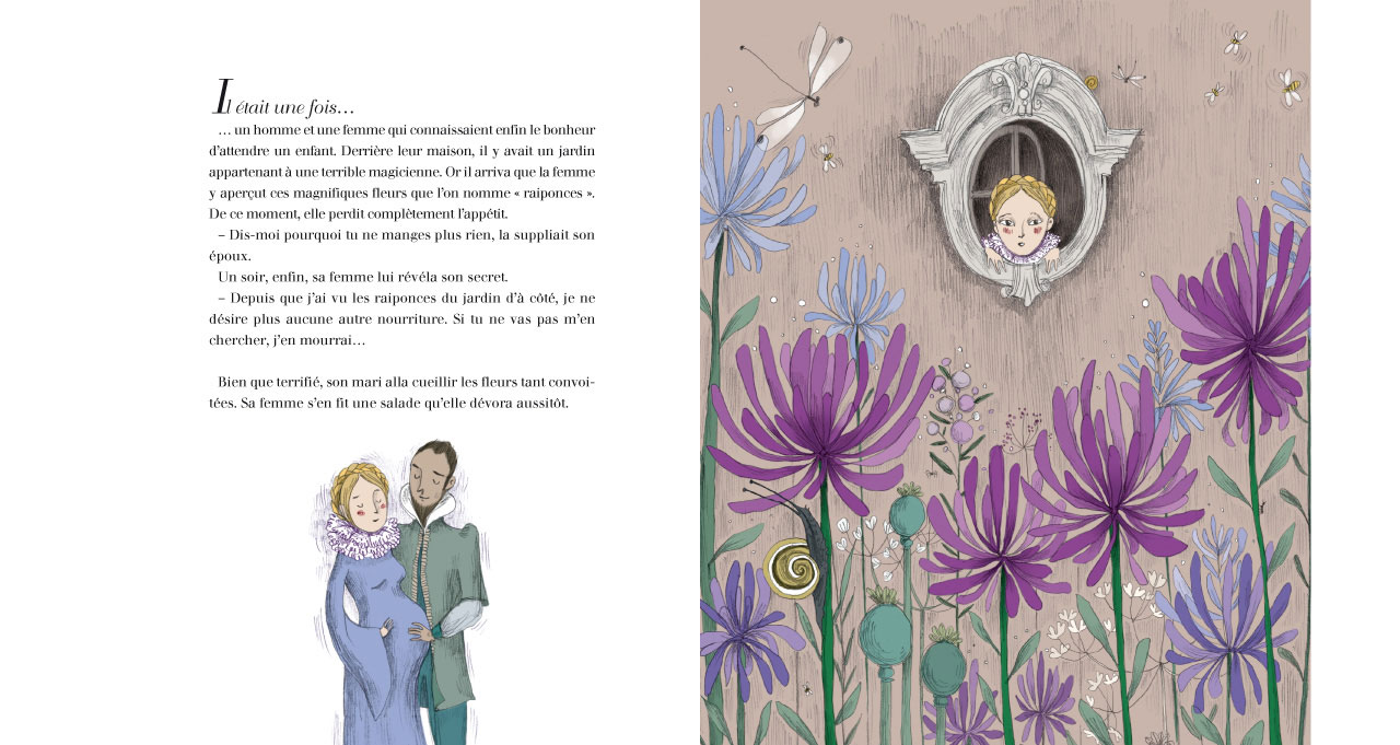 5130f9c12 SurLaLune Fairy Tales Blog: France Month: Raiponce illustrated by ...
