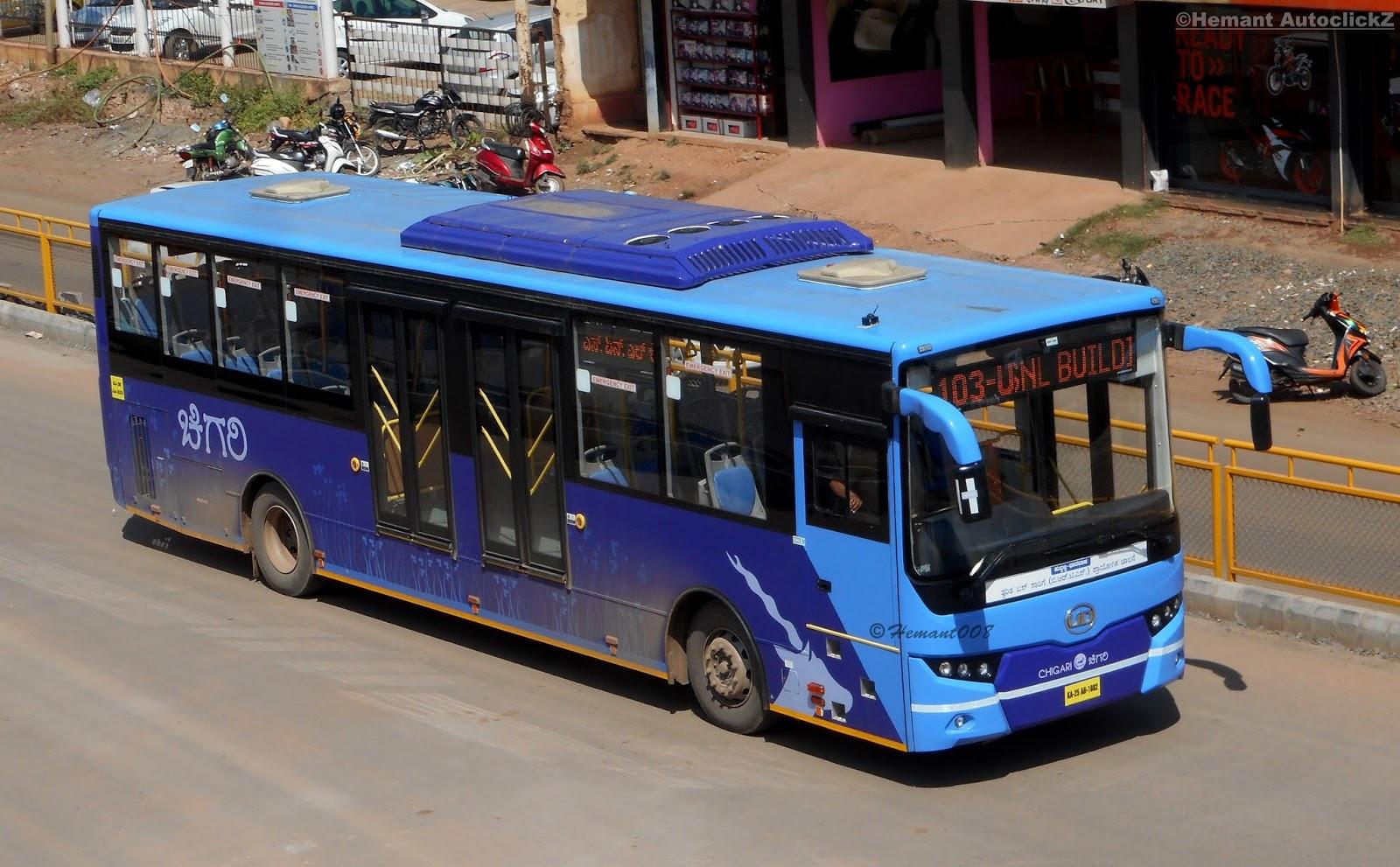 hemant autoclickz : hubli-dharwad bus rapid transit system - volvo