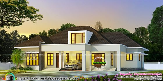 Very beautifully designed 2200 sq-ft house plan