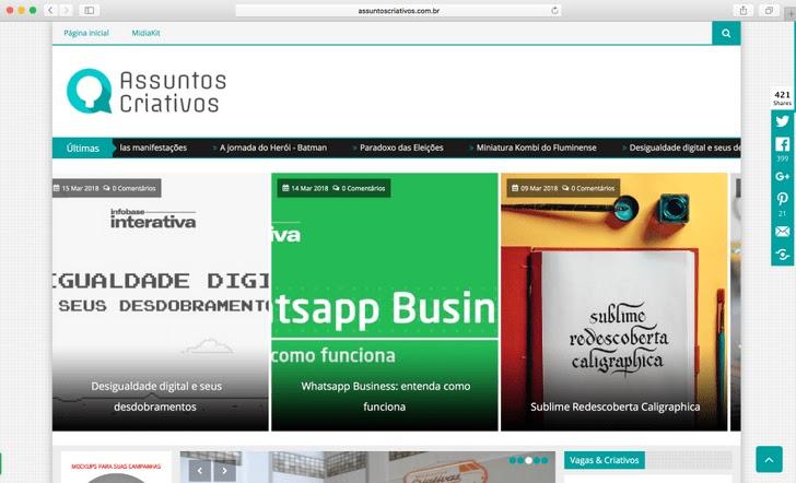 11 Sites Brasileiros de Design para Seguir