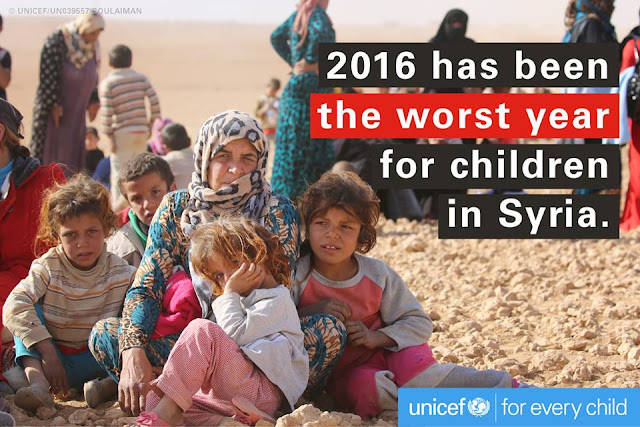 2016 Has been the worst year for the children in Syria.