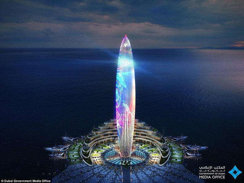 Dubai está construyendo el puerto deportivo más grande de la región y un faro verdaderamente espectacular