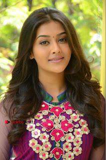 Actress Pooja Jhaveri Latest Stills in Purple Salwar Kameezt at Dwaraka Success Meet  0011.JPG
