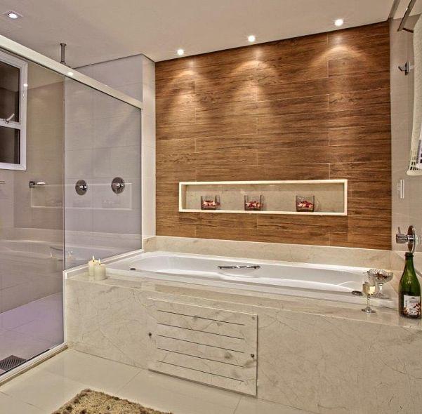 BANHEIROS COM BANHEIRA – FOTOS, MEDIDAS E DICAS PARA INSTALAR SUA BANHEIRA -> Medida Minima Banheiro Com Banheira