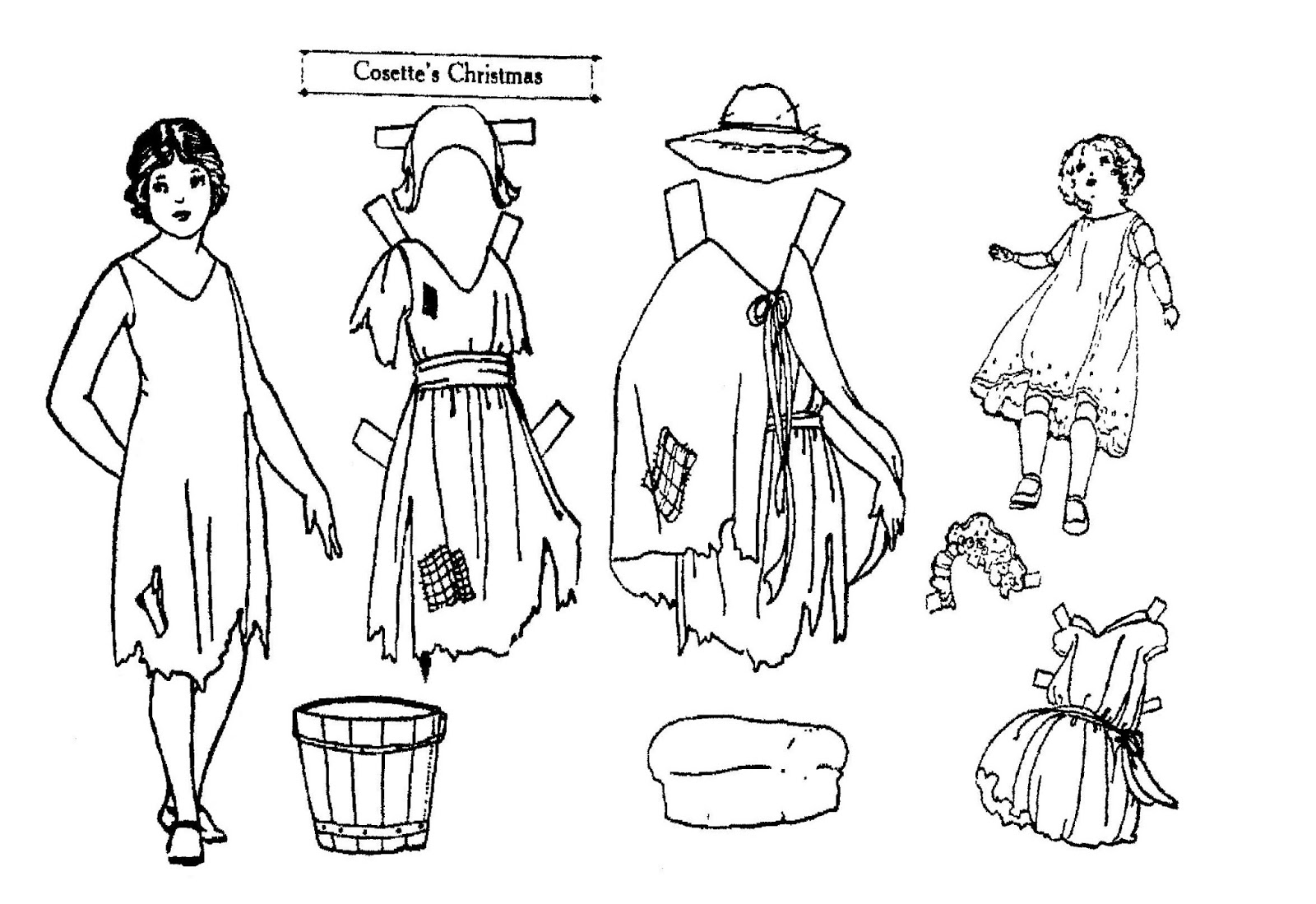 Mostly Paper Dolls Too!: COSETTE'S CHRISTMAS Paper Dolls
