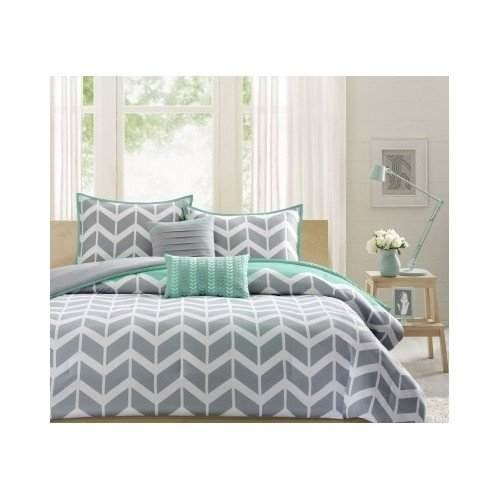 comforter frame bed night materials white attractive and lamp zig wooden chevron with black bedding luxury painted sets zag bedroom contemporary ideas