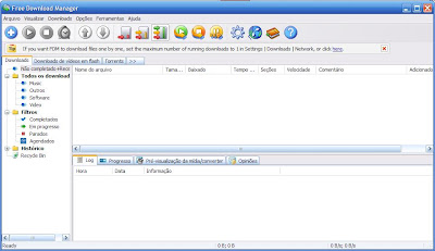 Inicio do Free Download Manager